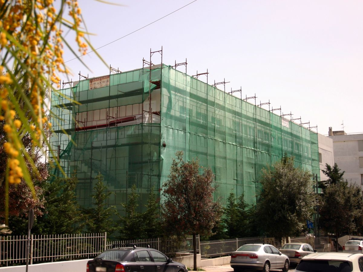 Scaffolding at Hootel Athens