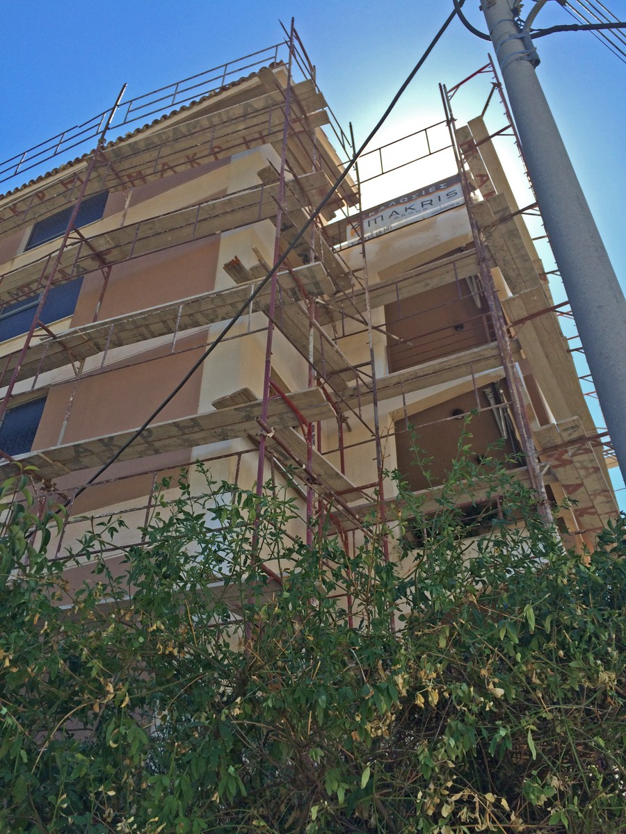 Scaffolding in Athens Greece - Σκαλωσιές