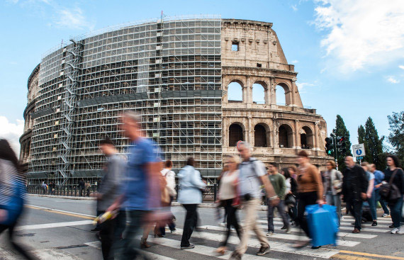 Colosseum Renovations Set To Begin, Rome Attraction Covered In Scaffolding